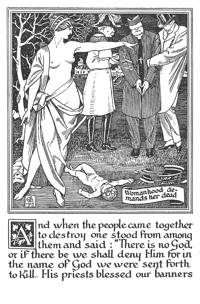 Ghosts of the Slain, illustrated by J. Southall, 1915 [© Reproduced with permission of the Barrow Family. University of Birmingham: rpqD525.098]