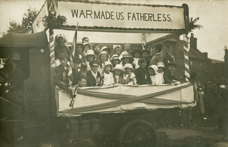 Co-operative Society May Day float, 1920 [Library of Birmingham: WW1 Home Front]