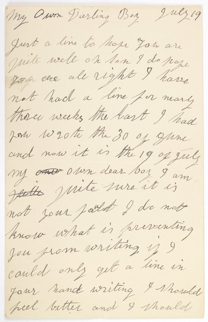 Letter to Fred Andrews [Birmingham Museums: 1999F47]