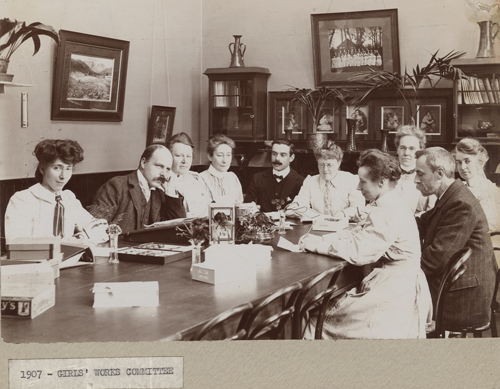 Girls' Works Committee, 1911 [Library of Birmingham: MS466/41/3/99]