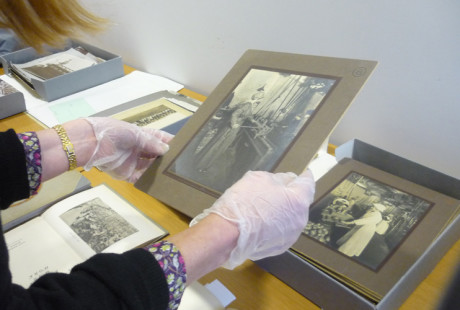 Archives research at Library of Birmingham [Photo: Stephen Patrick Burke]