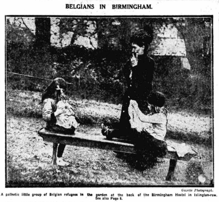 Belgians in Birmingham, Birmingham Gazette, 16 October 1914 [Birmingham Archives and Heritage Service]