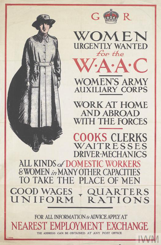 Recruitment poster for the WAAC: © IWM