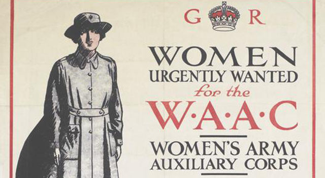Recruitment poster for WAAC © IWM