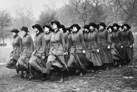 Members of the WAAC drilling in Hyde Park: © IWM